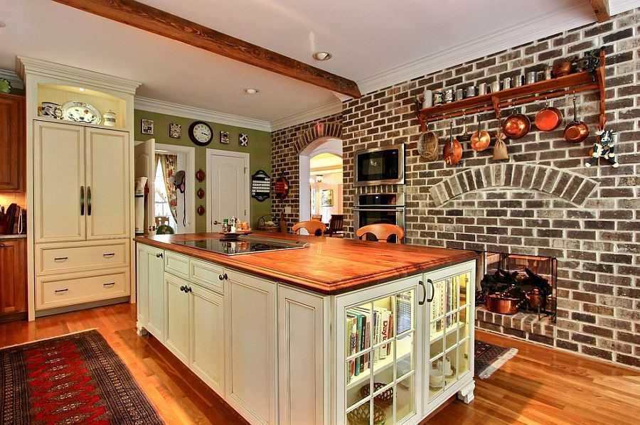 آشپزخانه با آجر نسوز