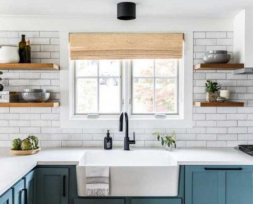 استفاده از آجر سفید در آشپزخانه